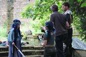 Cecily Fay directing on location Flower of Sarnia