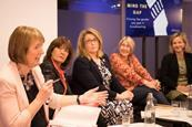 Mind the Gap Harriet Harman on panel 3x2