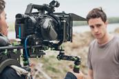 Behind the scenes film tv crew cameraman