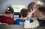 Boys watching super bowl 3x2