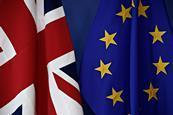 EU and UK flags in Brussels credit shutterstockcom