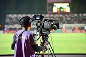 Football game camera crew