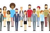 diversity cartoon large size people index