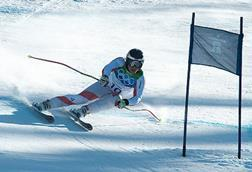 Skiing winter olympics
