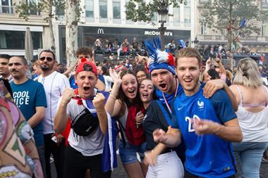 French football fans celebrate FIFA World Cup 2018 win