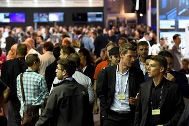 Exhibitor crowd shot ibc2017