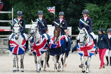 British eventing team celebrate gold at FEI source FEI Adam Fanthorpe