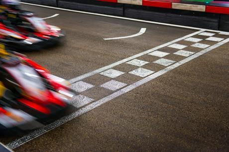 race car finish line