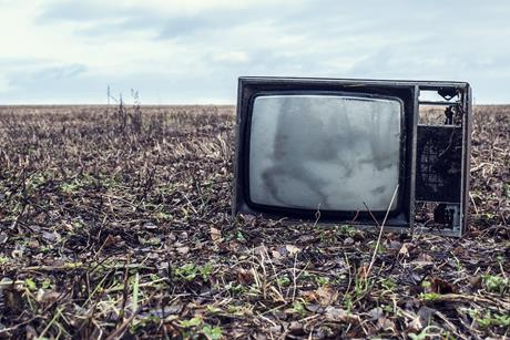 Tv set abandoned in field 3x2
