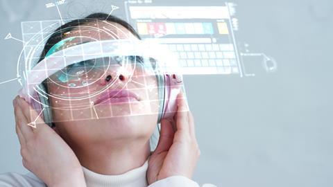 future ar headset woman 16x9