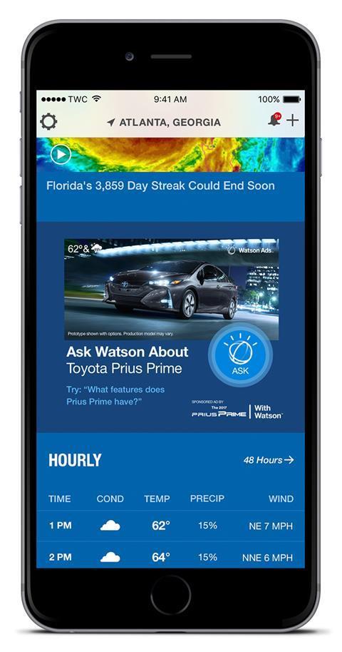 Toyota watsonad mobile