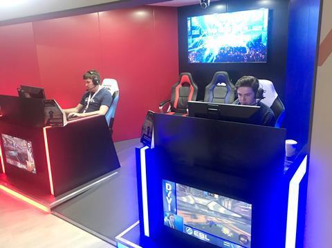 EVS ' eSports demo at NAB 2018