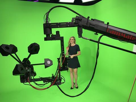 Avid's augmented reality demonstration featured its infra-red LED camera tracking