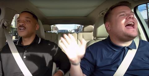 Carpool karaoke will smith james corden