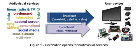 Figure 1 distribution options for audiovisual services