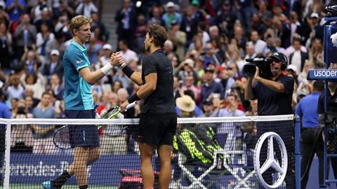 US Open: Nadal shakes hands with Kevin Anderson following his Men's Singles win in September