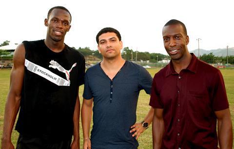 Usain Bolt, Leon Mann and Michael Johnson
