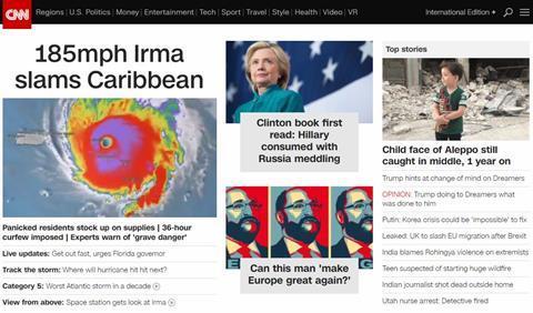 Cnn digital homepage