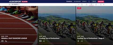 Relaunched in 2015: Eurosport Player