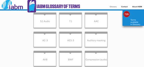 Iabm glossary