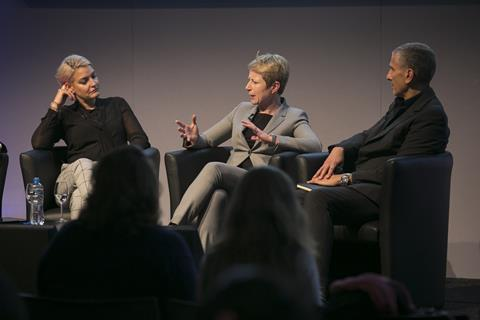 Kate Burns, Clare Hungate and Tom Toumazis