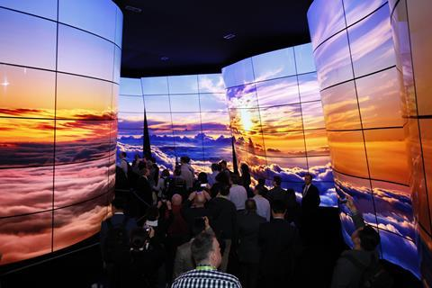 LG's OLED canyon experience at CES 2018