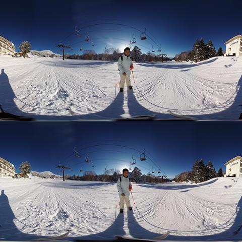 8 k 3 d sample ski insta360 8 k camera shot
