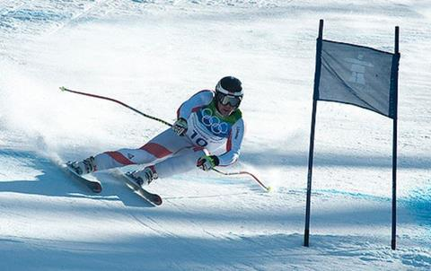 Skiing winter olympics
