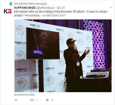 Mix master mike re tweet making vr album