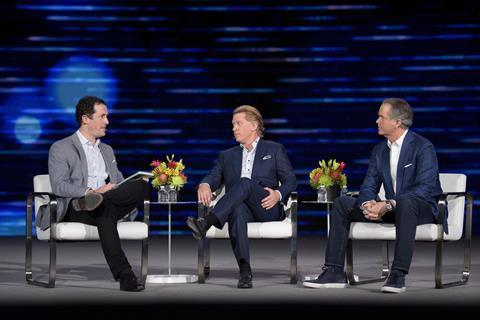 Matthew Garrahan, Financial Times, John Martin, Turner and Randy Freer, Hulu at CES 2018