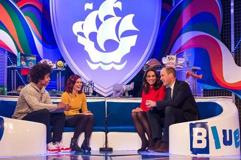 The Duke and Duchess of Cambridge on Blue Peter