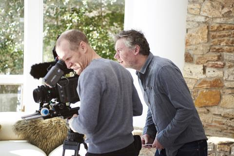 Director Kevin Macdonald, right, on shoot