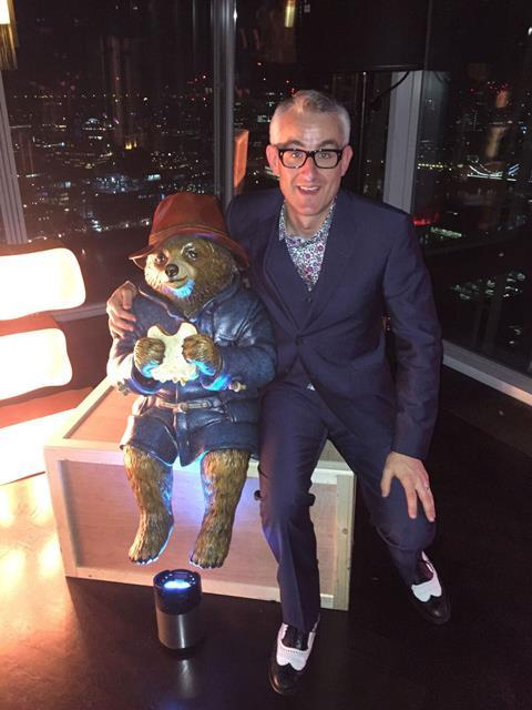 Mark Everson (right) with Paddington Bear
