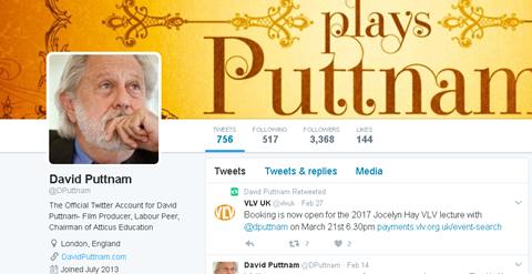 David Puttnam Twitter