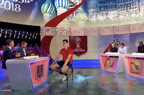 Belgian goalkeeper Thibaut Courtois was also interviewed as a hologram