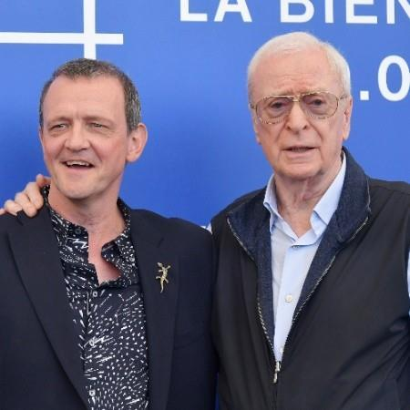 Director David Batty with Michael Caine