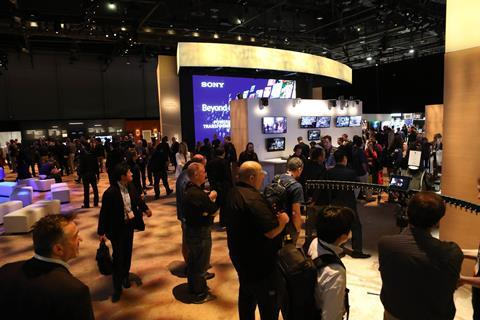 Attendees at nab 2018 innovative tech on the show floor