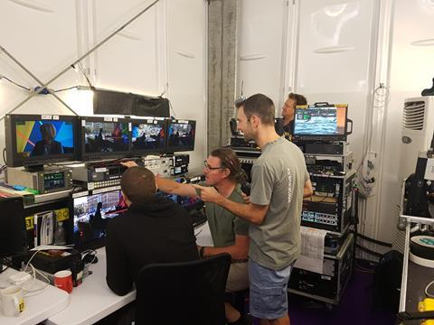 Heart of the action: European Champions production office